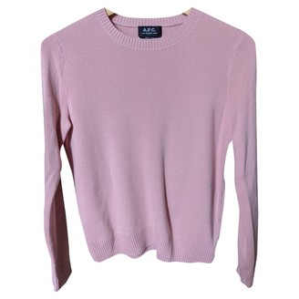 A.P.C. Pink Cotton Knitwear for Women