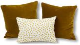 Kim Salmela Set of 3 Blake Pillow Bundle - Yellow/Ivory