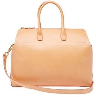Mansur Gavriel Travel Medium Leather Bag - Womens - Tan Multi