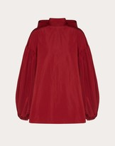 Valentino Micro-faille Top Women Persian Red Cotton 54%, Polyester 46% 36