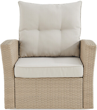Alaterre Canaan All-Weather Wicker Outdoor Armchair With Cushions