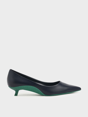 Charles & Keith Two-Tone Kitten Heel Pumps