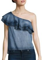 Bella Dahl One Shoulder Chambray Top
