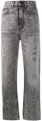 Sandro High-Rise Cropped Jeans