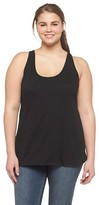 Mossimo Plus Size Loose Fit Tank Black 2X