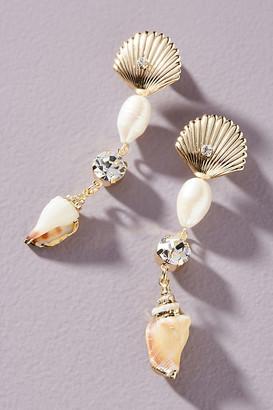 Dannijo Marin Pearl Drop Earrings By in Gold