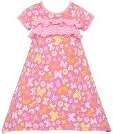 Baby Lulu Little Girls Floral Butterfly Print Ruffle Dress