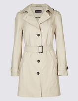 M&S Collection PETITE Trench Coat with StormwearTM