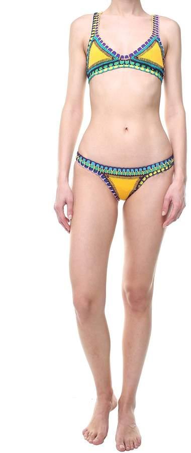 Kiini Ro Croquet-trimmed Triangle Bikini Top