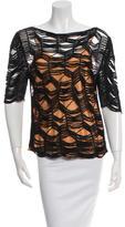 Vanessa Bruno Half-Sleeve Open Knit Top