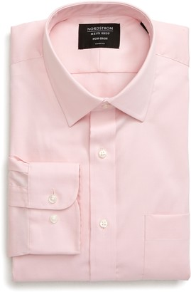 Nordstrom Mens Shop Traditional Fit Non-Iron Dress Shirt