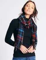 Marks and Spencer Women's Wool Blend Checked Scarf