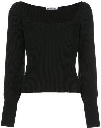 Reformation Isabel knitted top