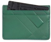 Burberry Men's 'Sandon' Check Leather Card Case - Green