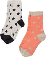Molo Pack of 2 Star Socks in Desert Flower