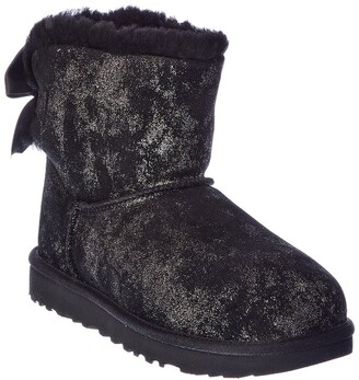 UGG Mini Bailey Bow Glimmer Suede Boot