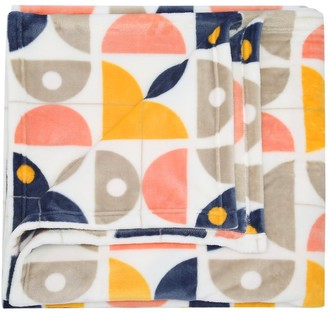 M&Co Geometric print fleece throw