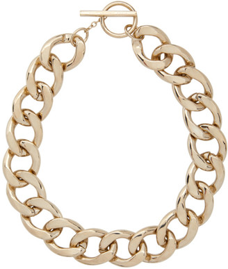 Saint Laurent Gold Chain Choker Necklace