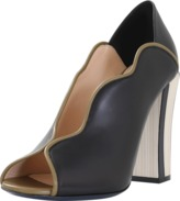 Fendi Wave Open Toe Pump