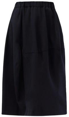 Comme des Garçons Comme des Garçons Panelled Wool-gabardine Suit Skirt - Navy