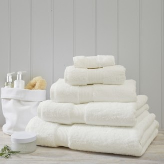 The White Company Luxury Egyptian Cotton Towel, Ivory, Face Cloth