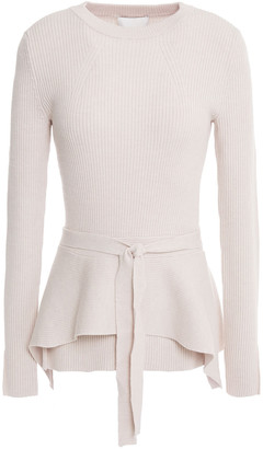 3.1 Phillip Lim Ribbed Wool-blend Peplum Sweater