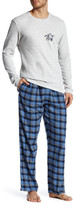 Lucky Brand Long Sleeve Thermal Crew and Flannel Pant Gift Set