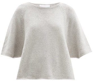 Allude Cropped-sleeve Cashmere Sweater - Light Grey