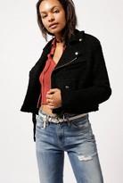 Azalea Nubby Wool Moto Jacket