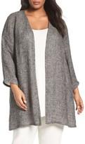 Eileen Fisher Plus Size Women's Long Organic Linen Blend Jacket