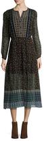 Shoshanna Silk Print A Line Dress