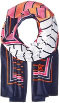 MICHAEL Michael Kors Abbey Multi Stripe Oblong Scarves