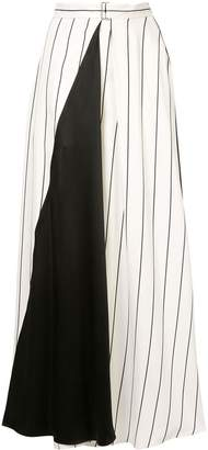 LAYEUR contrast paneled skirt