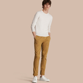 Burberry Slim Fit Stretch-cotton Twill Chinos