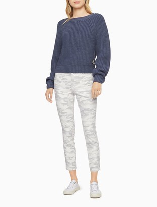 Calvin Klein Skinny High Rise Printed Denim Ankle Jeans