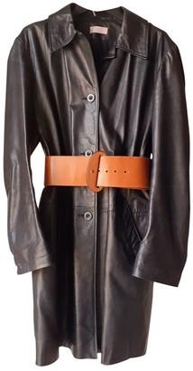 Nicole Farhi Black Leather Coats
