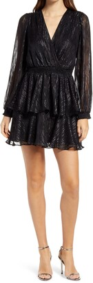 Ever New Keira Long Sleeve Tiered Minidress