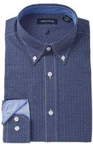 Nautica Small Check Classic Fit Dress Shirt