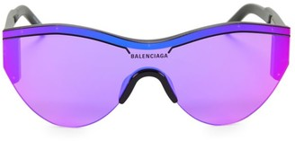 Balenciaga 99MM Two-Tone Wrap Sunglasses