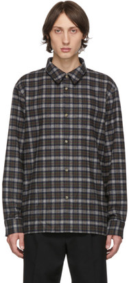 A.P.C. Khaki Plaid Land Shirt