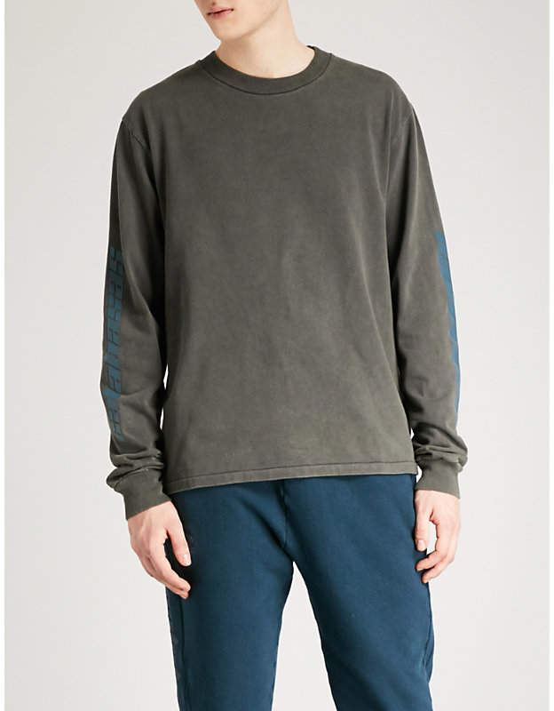 Yeezy Season 6 Calabasas-print cotton-jersey sweatshirt