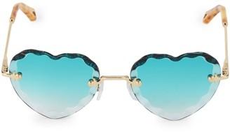 Chloé Rosie 55MM Heart Sunglasses