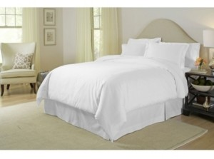 Pointehaven Solid 3-Pc. King Duvet Set, 400 Thread Count Cotton Sateen Bedding