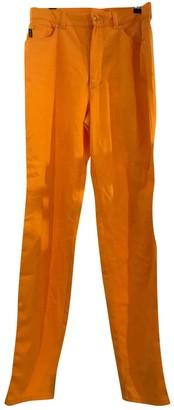 Escada Orange Cotton Trousers for Women