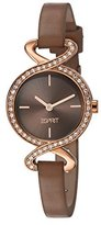 Esprit TP10628 Women's Quartz Watch with Brown Dial Analogue Display and Brown Leather Strap ES106282007