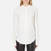 Helmut Lang Women's Back Knot Long Sleeve Blouse White