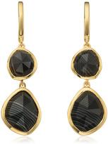 Monica Vinader Siren Double Nugget Drop Earrings