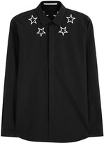 Givenchy Black Star-embroidered Cotton Shirt