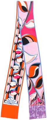 Emilio Pucci Sequin Detailed Printed Scarf