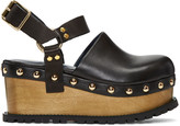 Sacai Black Clog Sandals